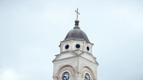 Orthodox church, Tower, Clock and Cross ビデオ