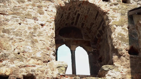 Old Fortress from the Middle Ages,Big Window Footage