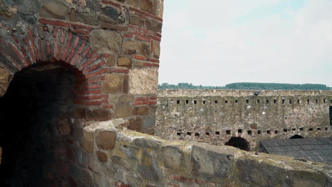 Old Fortress from the Middle Ages, Passage on the Wall Footage