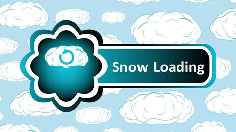 Icon snow loading and sky Animation