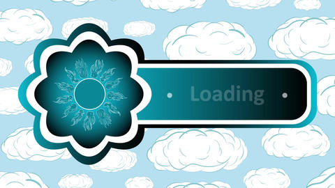 Icon sun loading and clouds CG動画素材