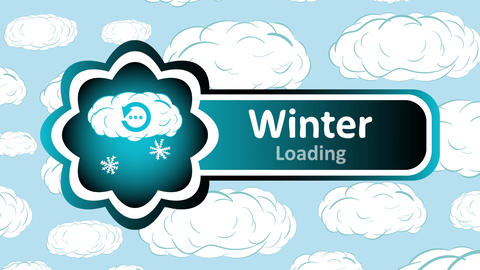 Icon winter loading and sky Animation