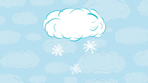 Snow cloud and sky Animation