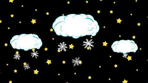 Snow in stars falls Animation
