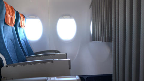 passenger seats inside the aircraft Live Action