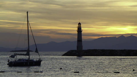 Seaside town of Turgutreis and spectacular sunsets Live Action