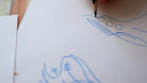A straight line with a pencil Archivo