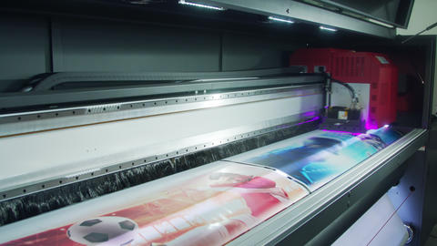 Large format printer printing high quality graphics at... Stock Video Footage