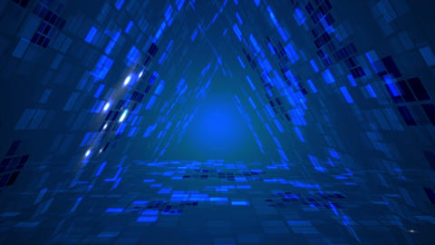 [alt video] Abstract futuristic triangle data tunnel motion graphic...