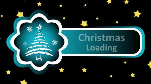 Christmas loading and stars Animación