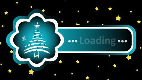 Christmas tree loading and stars Animation