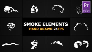 Cartoon Smoke Elements Motion Graphics Template