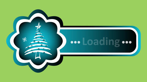 Christmas tree loading on green 애니메이션