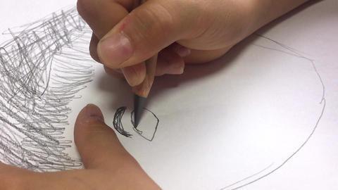 似顔絵の目を描く ライブ動画