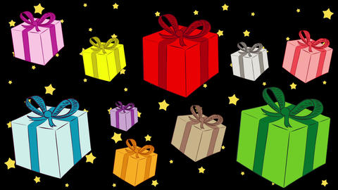 Heap of gifts and stars Animation