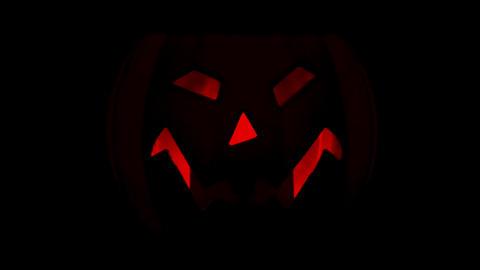 Isolated flashing halloween pumpink Footage