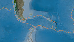 Scotia tectonic plate. Satellite imagery A. Borders first. Van der Grinten Animation