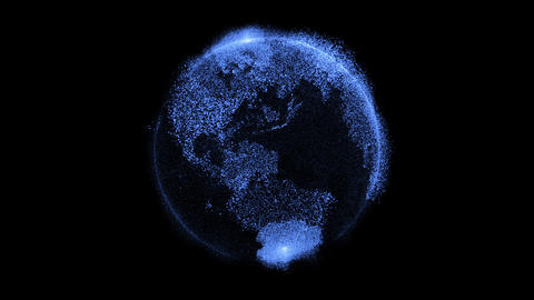 Earth hologram Animation