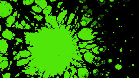 Effect with a drop of bright green paint on the water surface Footage