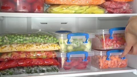 Freezing Meals. Fridge Organization Live Action