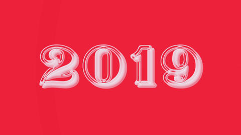 2019 with flare 1 Stock Video Footage