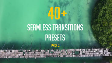 40+ Seamless Transitions Presets (pack 3) Premiere Proテンプレート