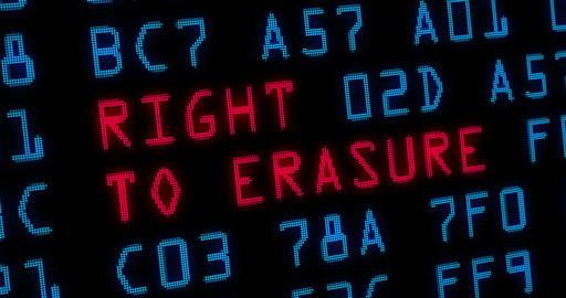 Right to erasure 4K Animation