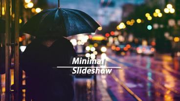 Minimal Slideshow 애프터 이펙트 템플릿
