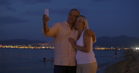 Couple Taking Selfie during Romantic Walk Footage