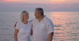 Smiling mature couple looking to the camera Footage