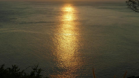 sea water surface at sunset background Footage