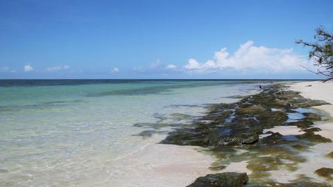 オーストラリア ケンズ グリーン島 綺麗な海と青い空 Footage