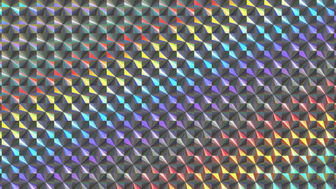 ホログラムシートのテクスチャ(ループ可能)-チェック/加速あり/シルバー CG動画