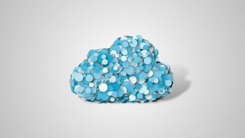 Cloud computing animation, cloud symbol from many particulars Live Action