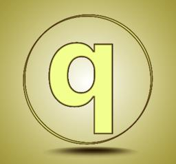 Letter Q lowercase, round golden icon on light golden gradient background Vector