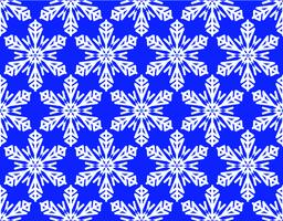 Seamless winter background with snowflake motif, white snowflakes on vivid blue Vector