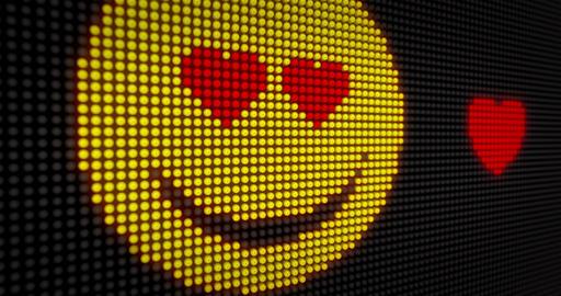 Emoticon love LED Animation