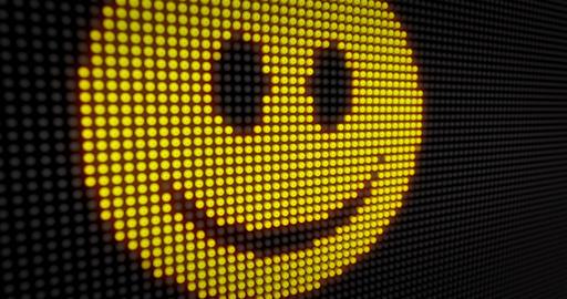 Emoticon smile LED 4K Animation