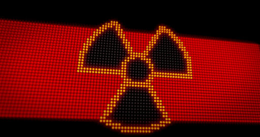 Caution X-Ray radiation LED Animation