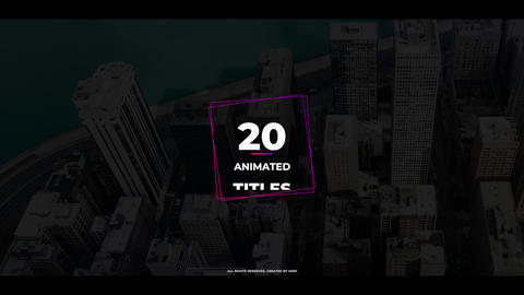 20 Animated Titles Premiere Pro Template