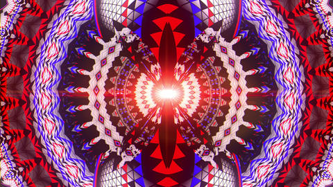 Rotating Colorful Psychedelic Cosmic Circle Eye With Sparkles VJ Loop Live Action