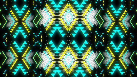 Sliding Mosaic Kaleidoscopic Sparkling Geometrical Particles VJ Loop Live Action