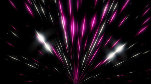 Sparkling Shining Firework Rising Flower Black Background VJ Loop Footage
