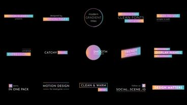 Modern Gradient Titles Motion Graphics Template