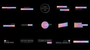 Modern Gradient Titles モーショングラフィックステンプレート