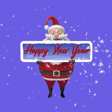 Video footage of Merry Christmas and Happy New Year Santa AE template After Effects Template