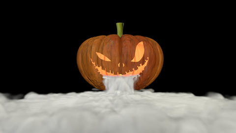 Jack'o lantern with smoke Animación