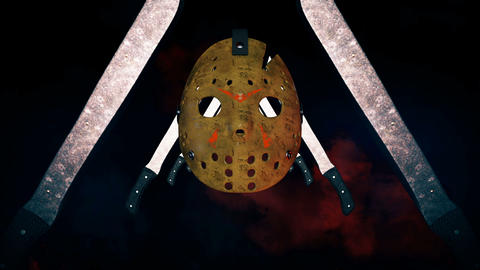 Jason Scary Masks VJ Loop Animation