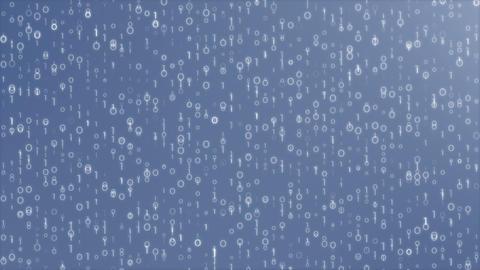 Digi0011 - Detailed Blue Digital Video Background Loop Animation
