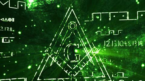 4K The Free Masonic Grand Lodge Sign v1 2 Animation